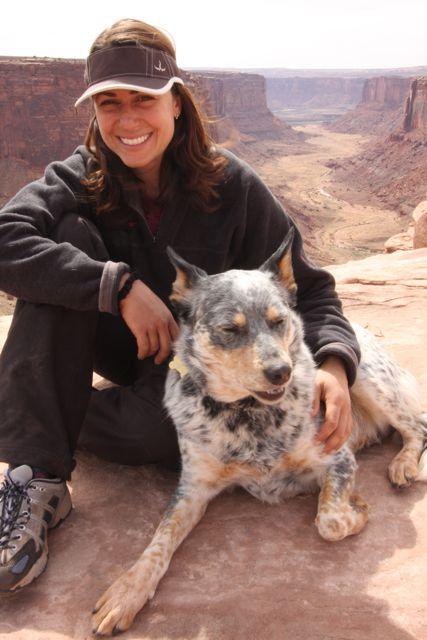 Davis and dog Fletcher