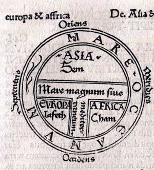 T-O map from the Etymologiae of Isidorus, 1472