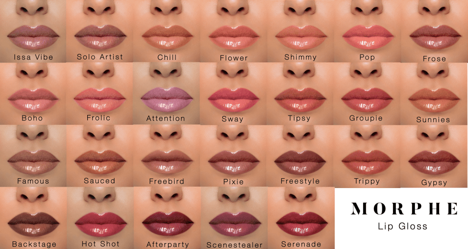 Morphe Lip Gloss Review Time To Put My Face On Offering innovative makeup for the eyes, lips and face that is high quality, used by professionals, always cruelty free and at affordable drug store prices. morphe lip gloss review time to put