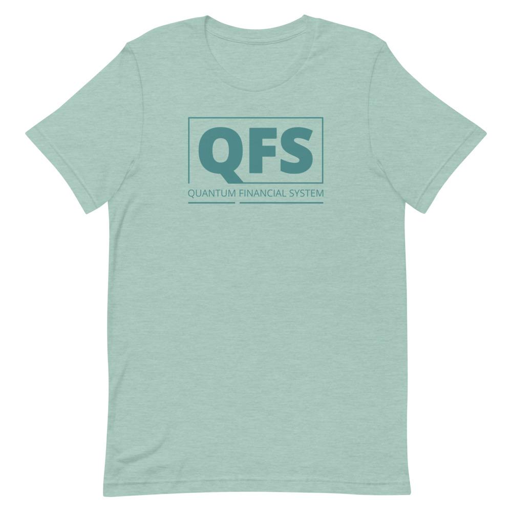 QFS – Quantum Financial System Heather Prism Blue T-Shirt