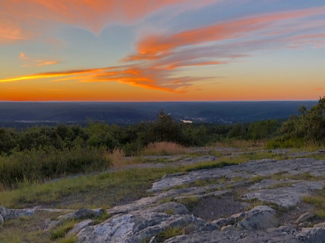 Sunset at High Point State Park.