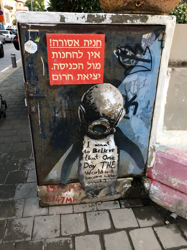 Graffiti in Tel Aviv.