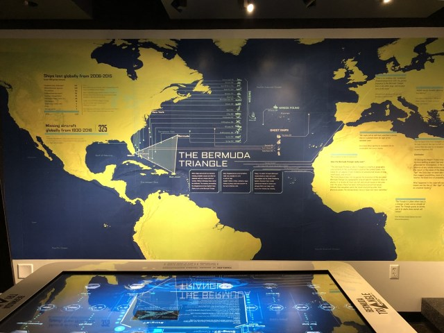 The Bermuda Triangle exhibit at the Bermuda Underwater Exploration Institute.