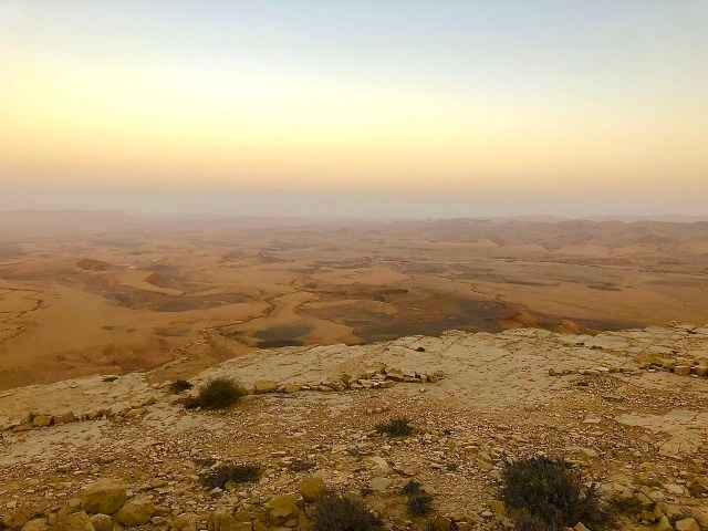 "An overlook of the Ramon ""crater"" in Israel."