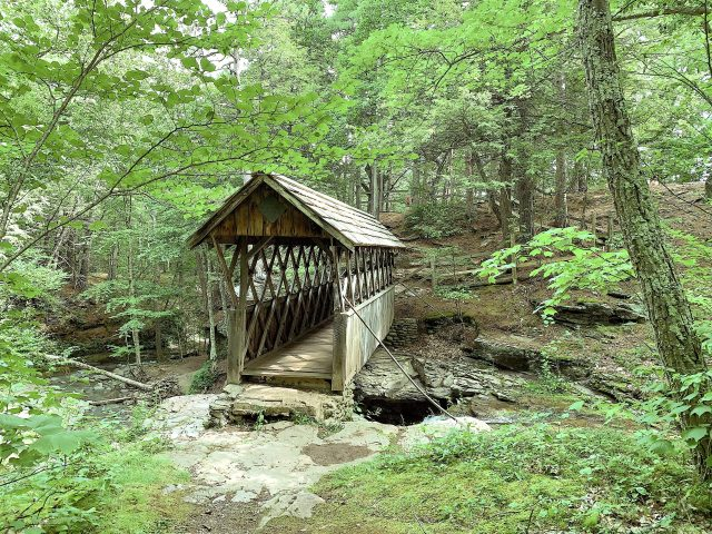 An old bridge over a stream in the Catskills