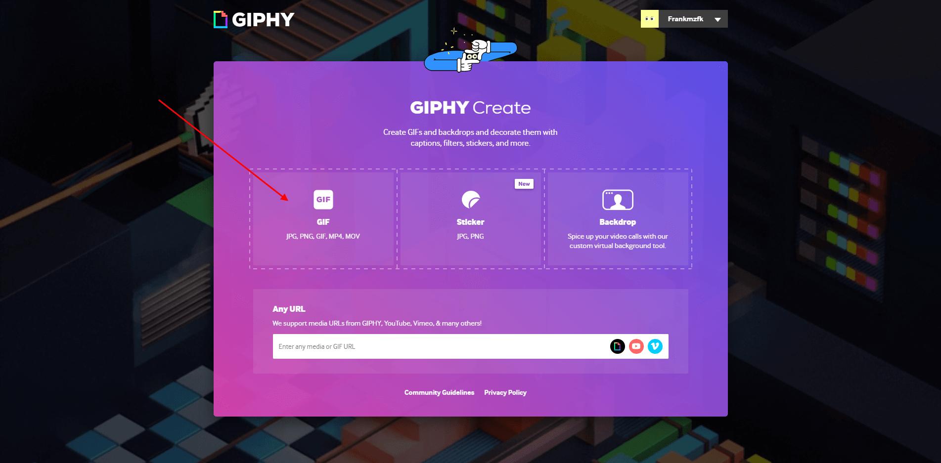 Online služba pro vytvoření GIF