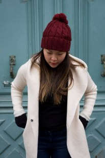 Target beanie and gloves, Saks Fifth ave coat