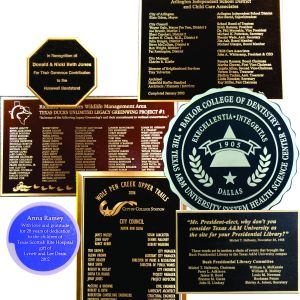 Custom Bronze and Aluminum Plaques