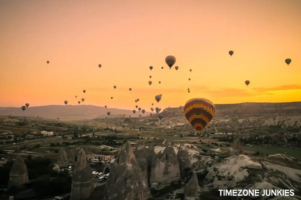 hot air balloon tour turkey