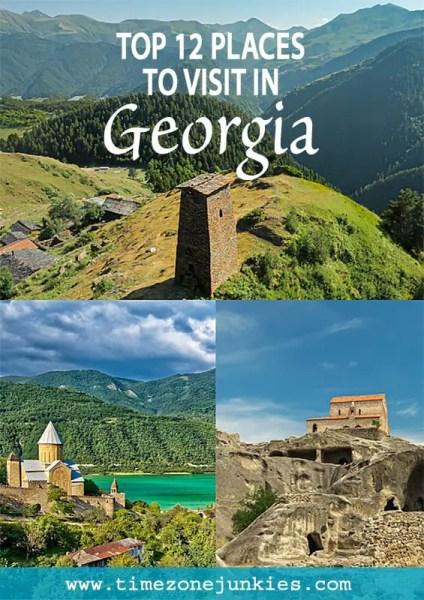 unique places to visit in Georgia Book cover