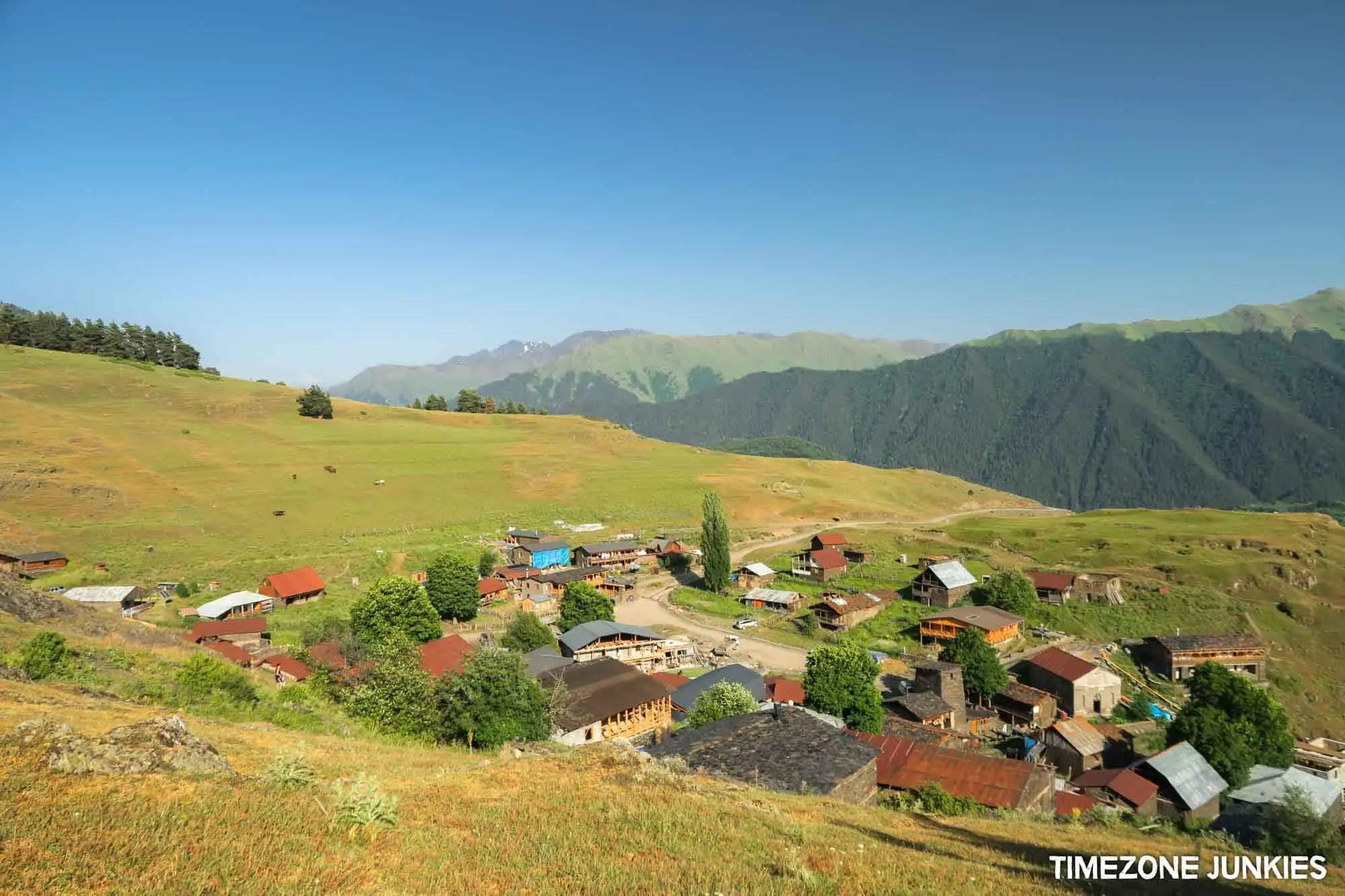 omalo village in tusheti