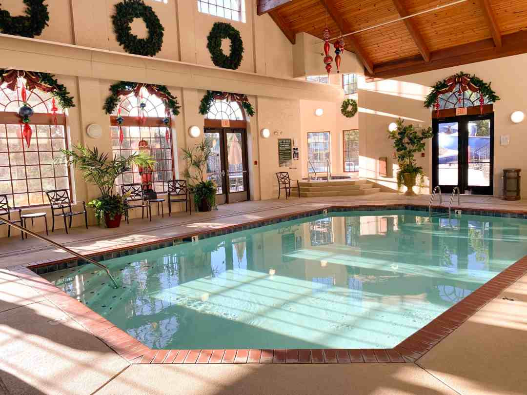 Indoor pool the Inn at Christmas place