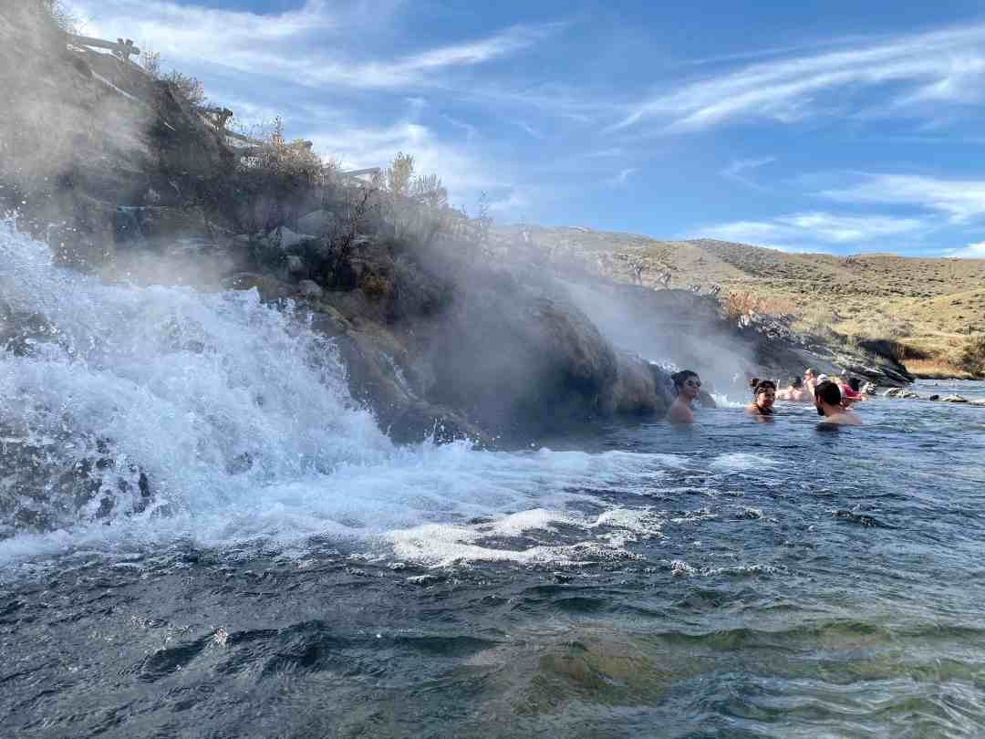 The Boiling River in Yellowstone National Park