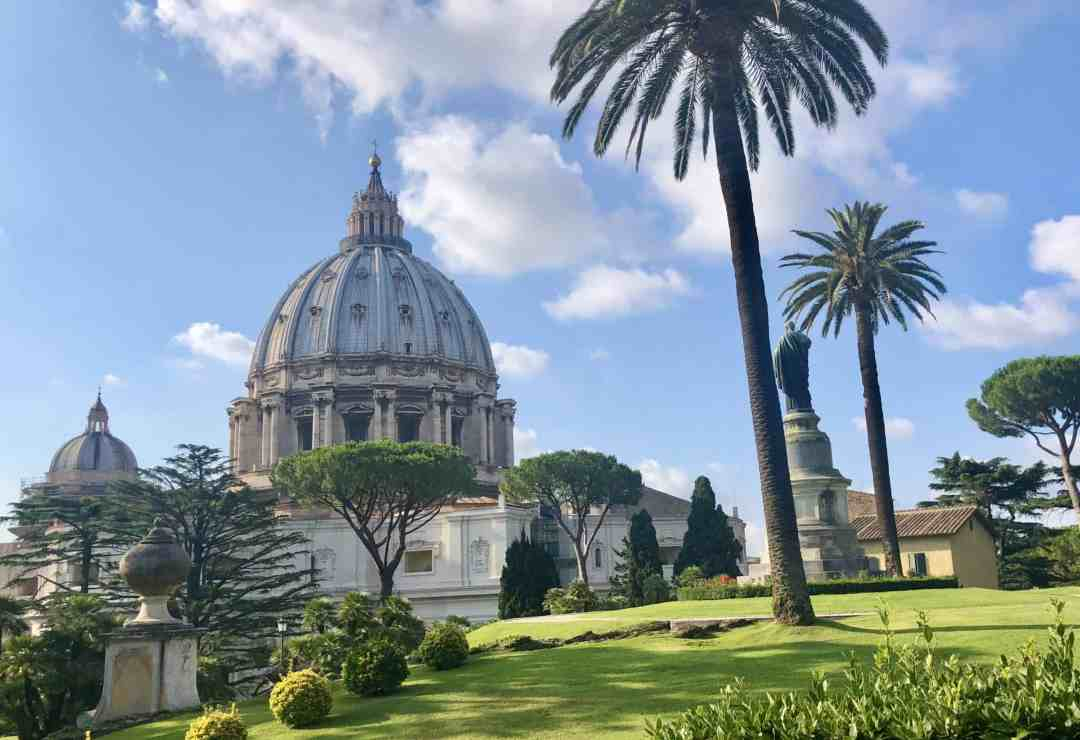 Vatican Garden tour views of St. Peter's Basilica
