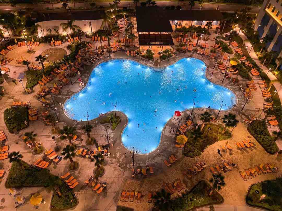 Endless Summer Resort Two bedroom pool view at night