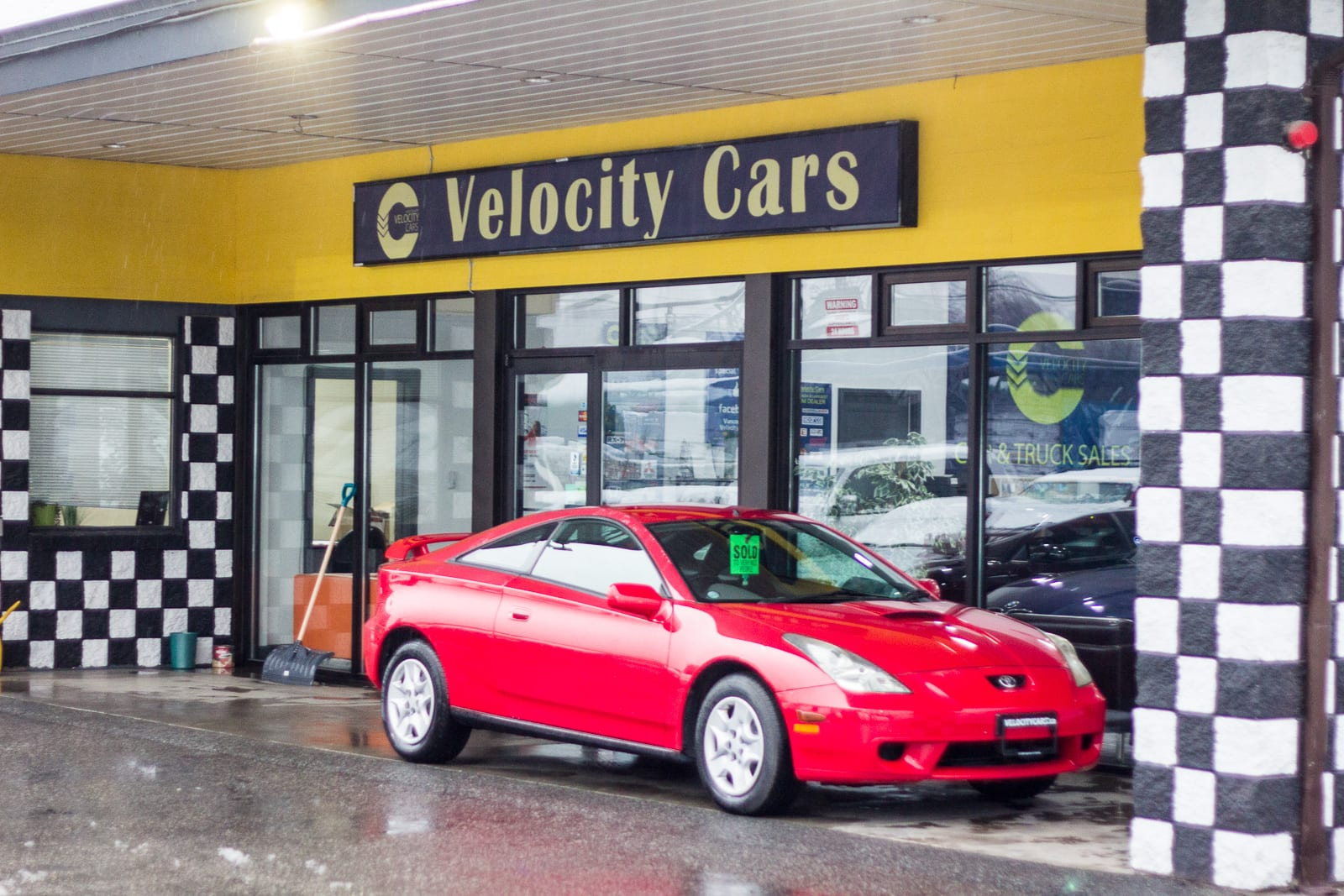 Storefront of Vancouver Velocity Cars