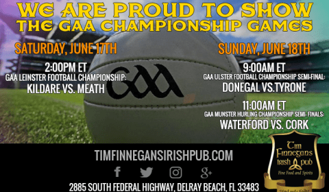 2017 GAA Championsgip Games ahown at Tim Finnegans Irish Pub