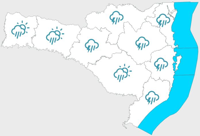 Previsão do tempo domingo