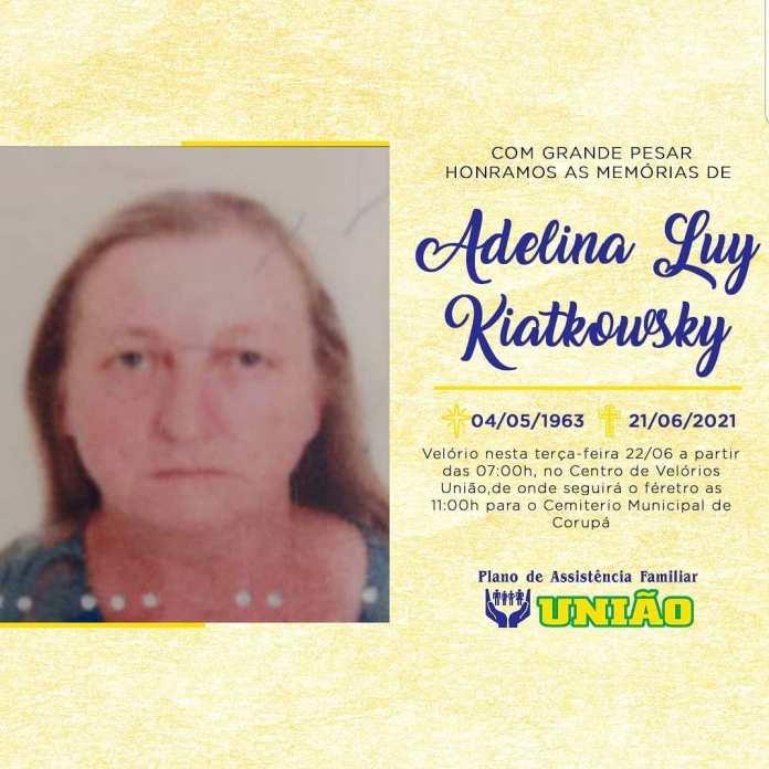 nota de falecimento adelina luy kiatkowsky