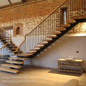 Customized Steel Wood Staircase With Mono Stringer Stairs Of | Wood Mono Stringer Stairs | Central | Arch | Hardwood | Glass | Timber