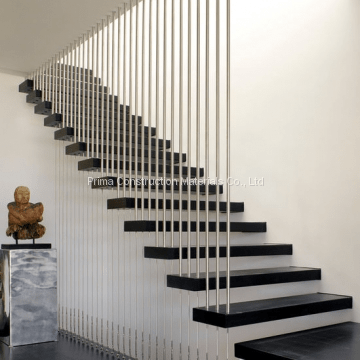 Modern Wood Floating Staircase With Stair Railings Design Of   Modern Wood Stair Railing   Wrought Iron   Staircase Railing   Modern Style   Deck   Horizontal Bar