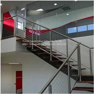 Diy Usa Popular Wire Balustrade Deck Stainless Steel Railing   Diy Glass Stair Railing   Staircase Makeover   Modern Stair Parts   Floating Stairs   Loft Railing   Wood