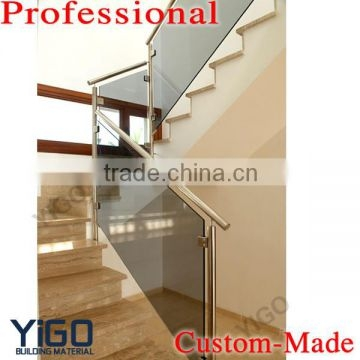 Modern Design Stainless Steel Glass Railing Model Interior Stair   Glass Stair Rails And Banisters   Photo Gallery   Perspex   Thick Solid Oak Stair   Mirror   Stair Price