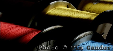 Colour photo of electrical cable reels