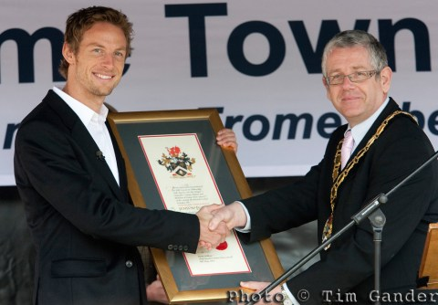 jenson button and cllr hooton