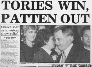 news cutting bath chronicle 1992 election showing chris patten defeat