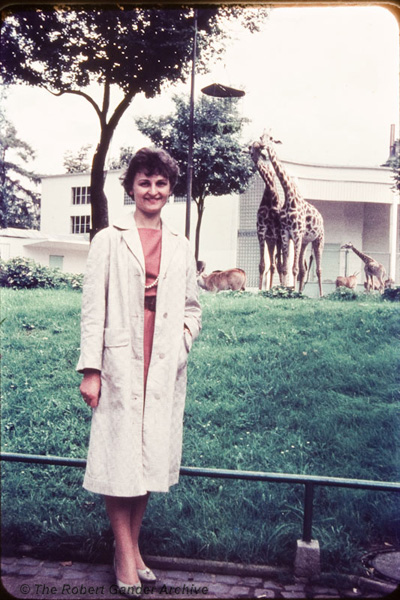 My mum at Frankfurt Zoo, circa 1960.