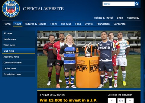 Premiership Rugby 7s Final web page