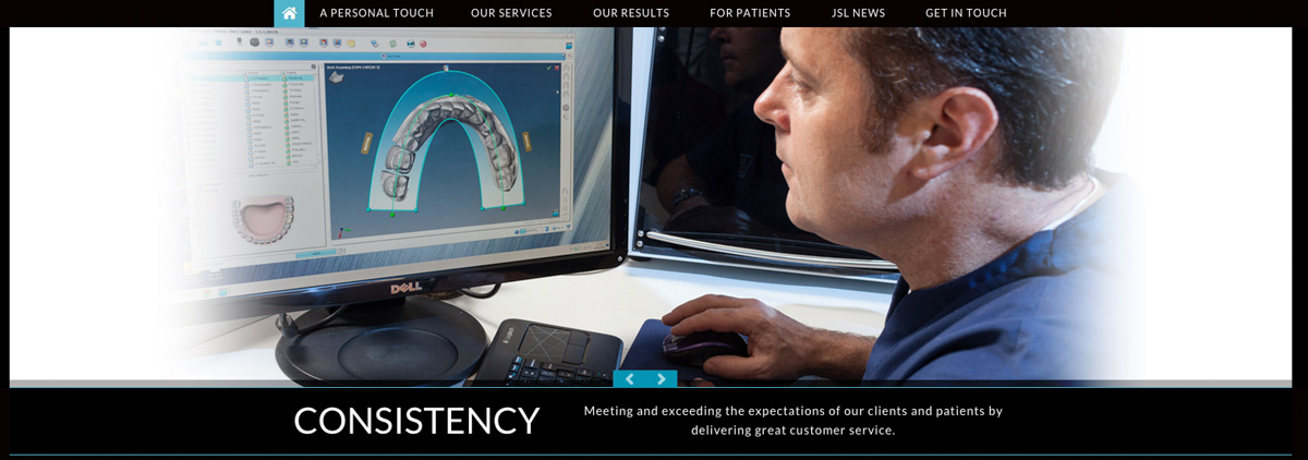 Screen grab from a page detail from the JSL Dental Laboratory website.