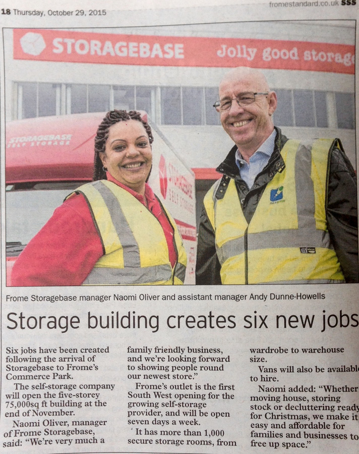 The press release with picture appears in the print edition of the Frome Standard.