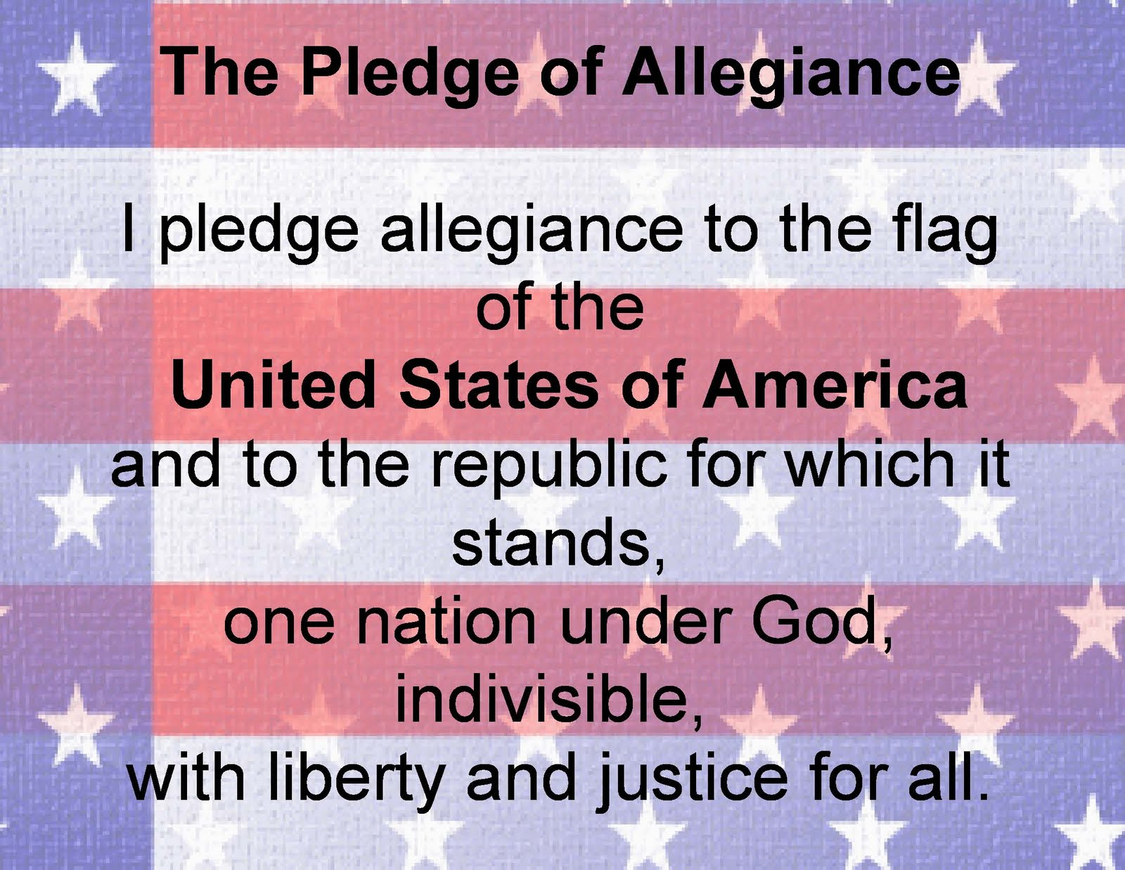In Reponse To I Pledge Allegiance To Our World Of