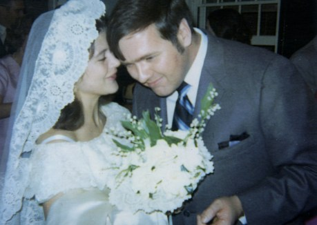 Tim and Marian Henderson wedding 3_21_1970