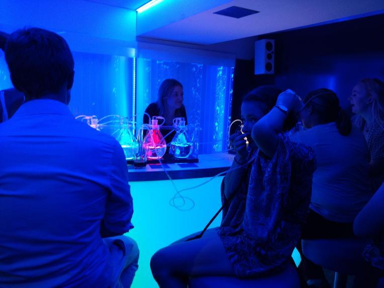Sauerstoffbar im Club Karlovy Lazne, dem größen Club Europas