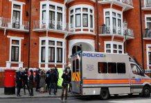 Julian Assange de WikiLeaks arrestado en Londres