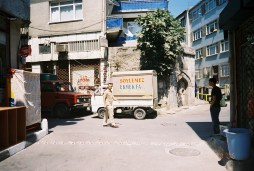 """our bakery with its van parked out front--""""ekmek"""" means bread"""