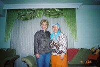 Sevket's sister and me in her home