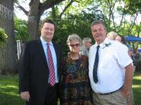 my brothers Chris and Tom, father of the bride, and me