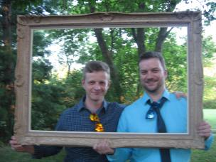 my sons Jason and Nick get framed