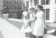 Evelyn, Juanita, Mother and me