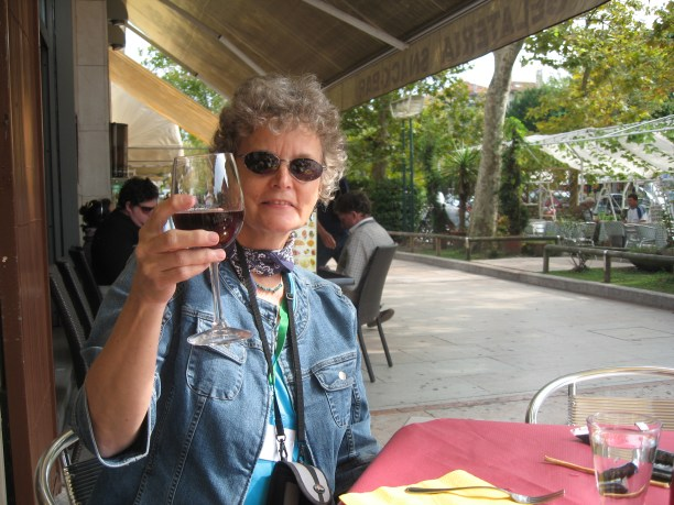 My first glass of vino in Venice