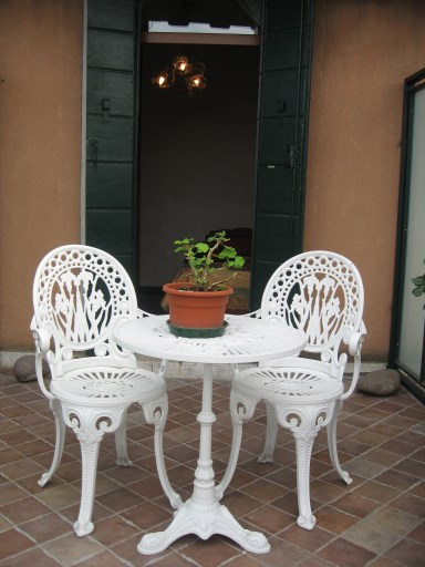 More seating on our balcony