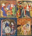 women_activities_in_middle_ages-four-panes