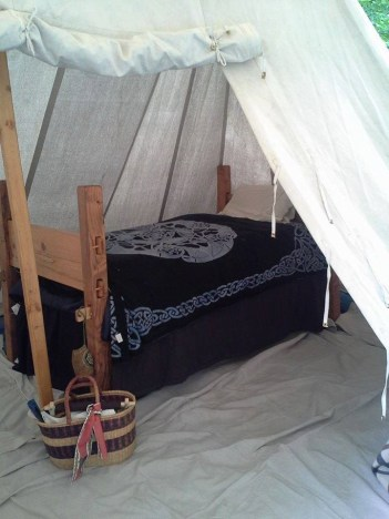 Nancy LaMonica-Barton's Pennsic bed