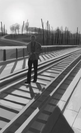 Man on the Kinzua bridge...