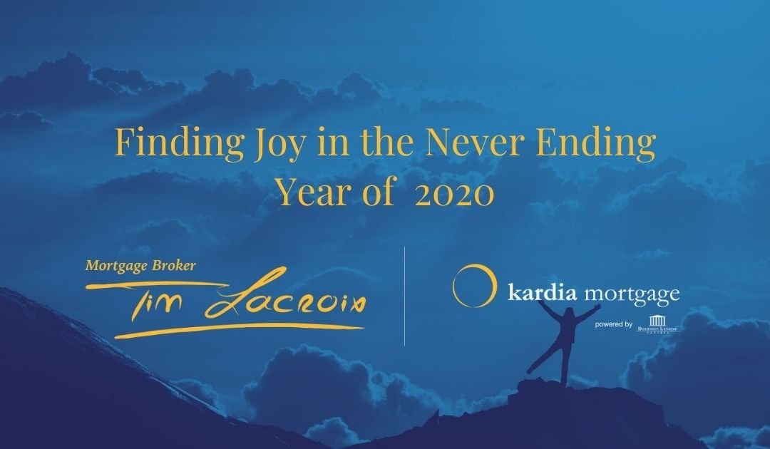 Finding Joy in the Never Ending Year of  2020