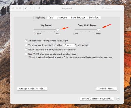 Speed Up Key Presses (macOS) - Tim Leland